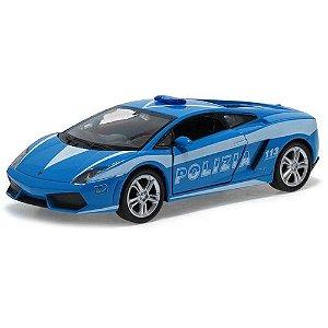 Carro Miniatura - Lamborghini Gallardo Polizia - 1:39 - Welly - Em Metal