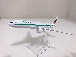 Avião Miniatura - Boeing 777-200 - Alitalia - Em Metal