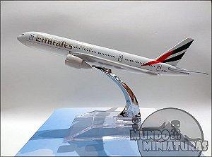Avião Miniatura - Boeing 777-300 Emirates - Em Metal