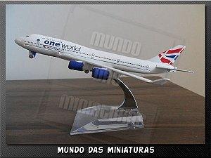Avião Miniatura - Boeing 747-400 British - Em Metal