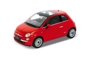 Carro Miniatura - Fiat 500 - 1:39 - Welly - Em Metal