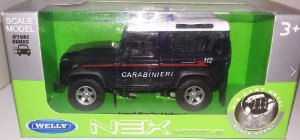 Carro Miniatura - Land Rover - 1:36 - Welly - Em Metal