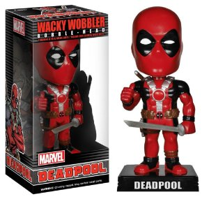 Boneco Miniatura - DeadPool - Marvel - Wacky Wobbler - Funko - 18 CM