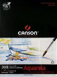 Bloco Canson Aquarela 300g 12 Folhas