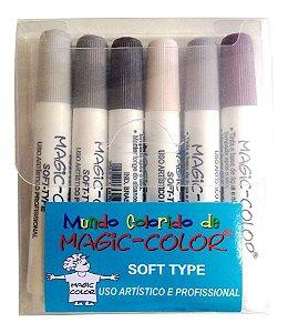 Estojo Magic Color 6 cores Soft Type 565