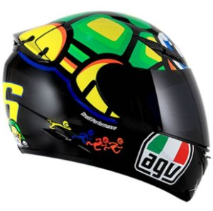 Capacete AGV K3 Turtle (Valentino Rossi) + Brinde Viseira Fumê