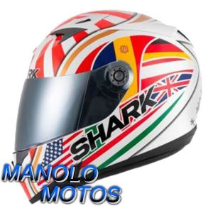 Capacete Shark S700 Réplica Johann Zarco WOR + Brinde Viseira Fumê