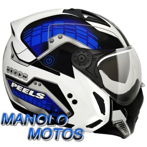 Capacete Peels Mirage City Light (Azul) Com Viseira Interna