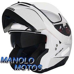 Capacete MT Optimus SV Mono Branco (Escamoteável)