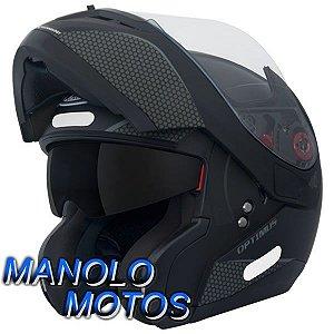 Capacete MT Optimus SV Mono Preto Fosco (Escamoteável)