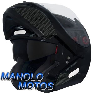 Capacete MT Optimus SV Mono Preto Brilhante (Escamoteável)