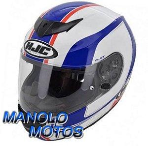 Capacete HJC CL-ST Racer MC 11 (Branco/Azul/Vermelho)