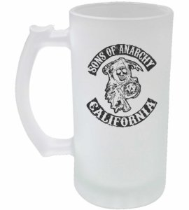 Caneca de Chopp Jateada - Sons Of Anarchy