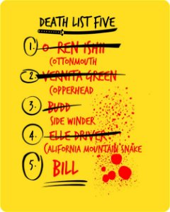 Camiseta Kill Bill - Death List Five