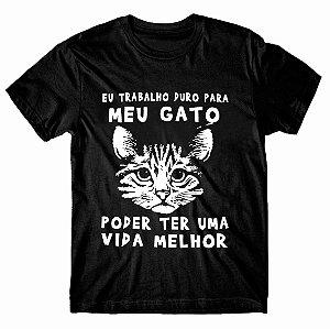 Camiseta Trabalho para meu Gato