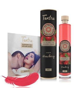 Óleo para Massagem Sensual Tantra Morango - 200ml