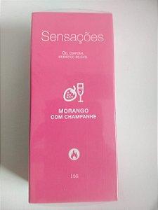 Lubrificante Sensações Morango com Champanhe