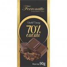 Chocolate 70% Cacau Ferronatto 90g