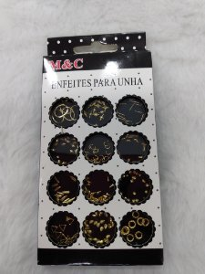 Cartela de joias modelos diversos - CX com 12