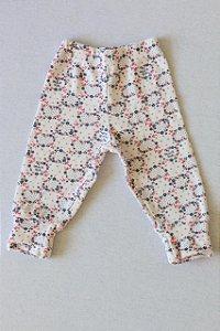 Calça estampada com Pezinho Reversível - Tamanho P