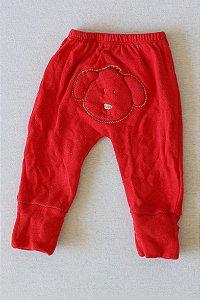 Calça Em Moletom com Pezinho Reversível - Newborn