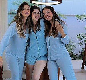 Pijama Sintonia Calça e Blusa de Manga Longa