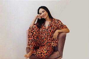 Pijama Brilhe Calça e Blusa de Manga Curta