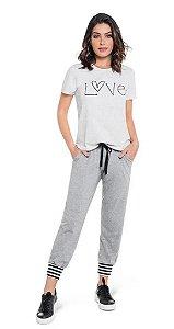 Pijama Curto Com Calça Jogger Happiness Reasons