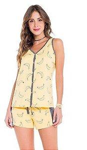 Pijama Regata Aberto We Love Bananas