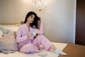 Pijama Rosa Vichy Calça e Manga Longa