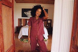 Pijama Londres Calça e Manga Curta