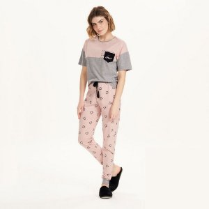Pijama Forever Love Calça e Manga Curta