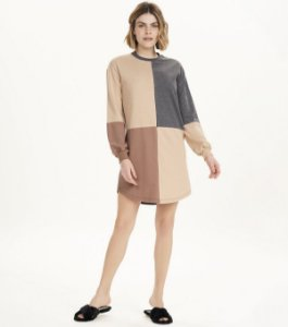 Dress Bronzer Manga Longa - Tamanho M