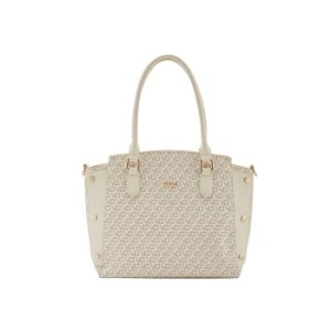 Bolsa Feminina Satchel Vogue Monograma - Off White