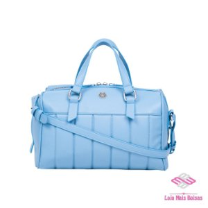 Bolsa Feminina Baú de Mão e Transversal Ana Hickmann - Azul
