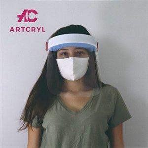 Mascara facial (Face Shield) Adulto com visor em petg 0.50mm (50 peças)