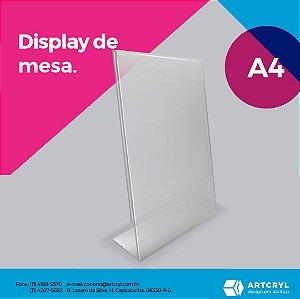 Display porta folheto em acrílico (Kit com 10 peças)