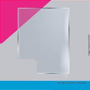 (Kit com 50 peças) Barreiras de proteção para guichê em petg cristal
