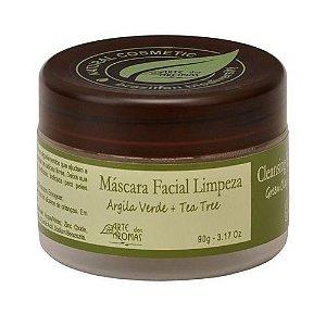 Máscara Facial de Limpeza Natural Argila Verde e Tea Tree 90g | Arte dos Aromas