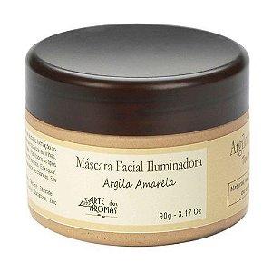 Máscara Facial de Argila Amarela - Iluminadora 90g | Arte dos Aromas