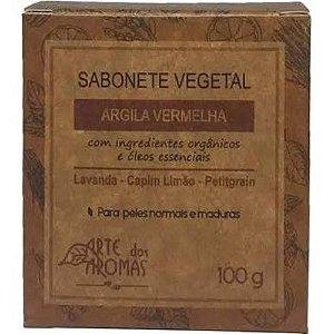 Sabonete Vegetal de Argila Vermelha 100g | Arte dos Aromas