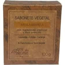 Sabonete Vegetal Argila Amarela 100g | Arte dos Aromas