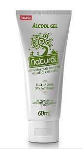 Álcool gel 70% com extratos naturais 60ml | Natural Suavetex