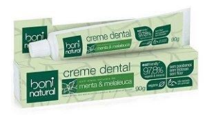 Creme Dental Sem Flúor Menta e Melaleuca 90g | Boni Natural