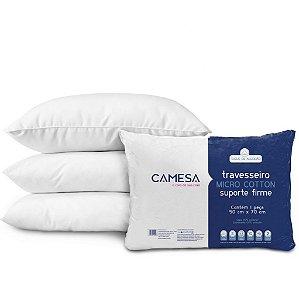 Travesseiro Micro Cotton 50 cm x 70 cm CAMESA