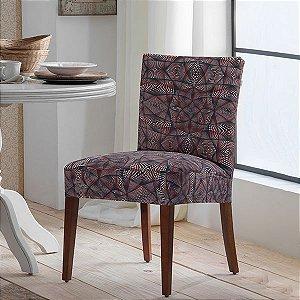 Capa para Cadeira de Malha Estampada Abstrato Tamanho Único - Adomes