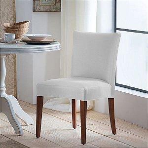 Capa para Cadeira de Malha Lisa Branco Tamanho Único - Adomes