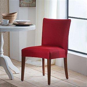 Capa para Cadeira de Malha Lisa Vermelho Tamanho Único - Adomes
