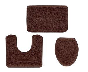 Jogo Para Banheiro Spazio 3 Peças Marrom / Chocolate- Ornare