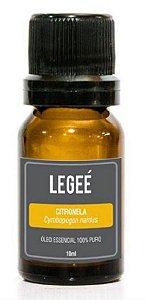 LEGEÉ - Óleo essencial de Citronela (Cymbopogon nardus) ORGÂNICO - 10ml
